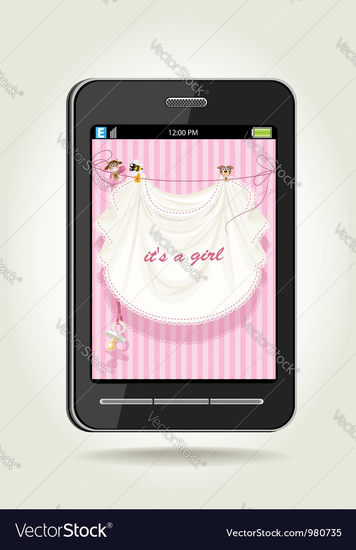 Smartphone with baby girl pink openwork