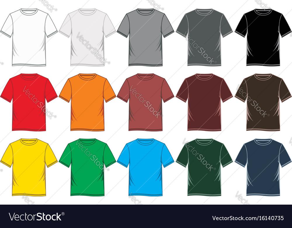 T-shirt template blank
