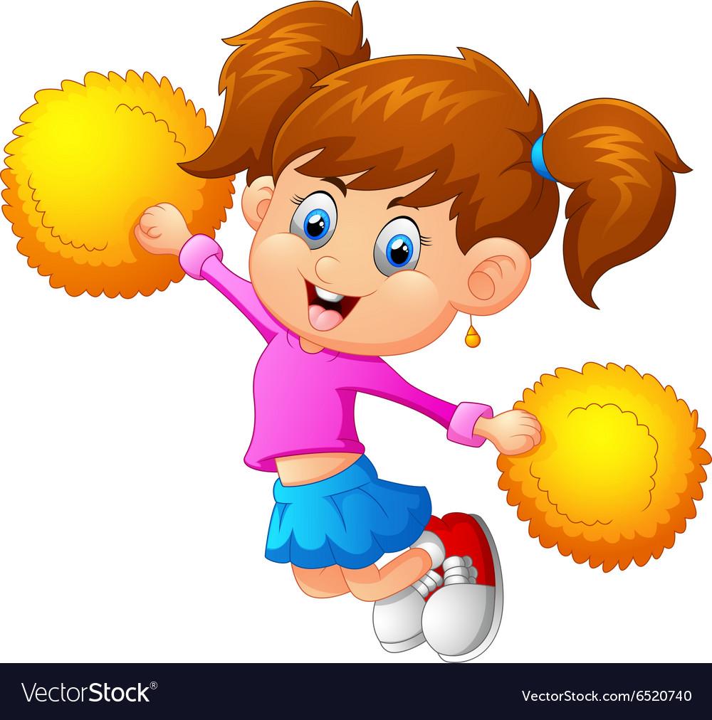 A cheerleader vector image