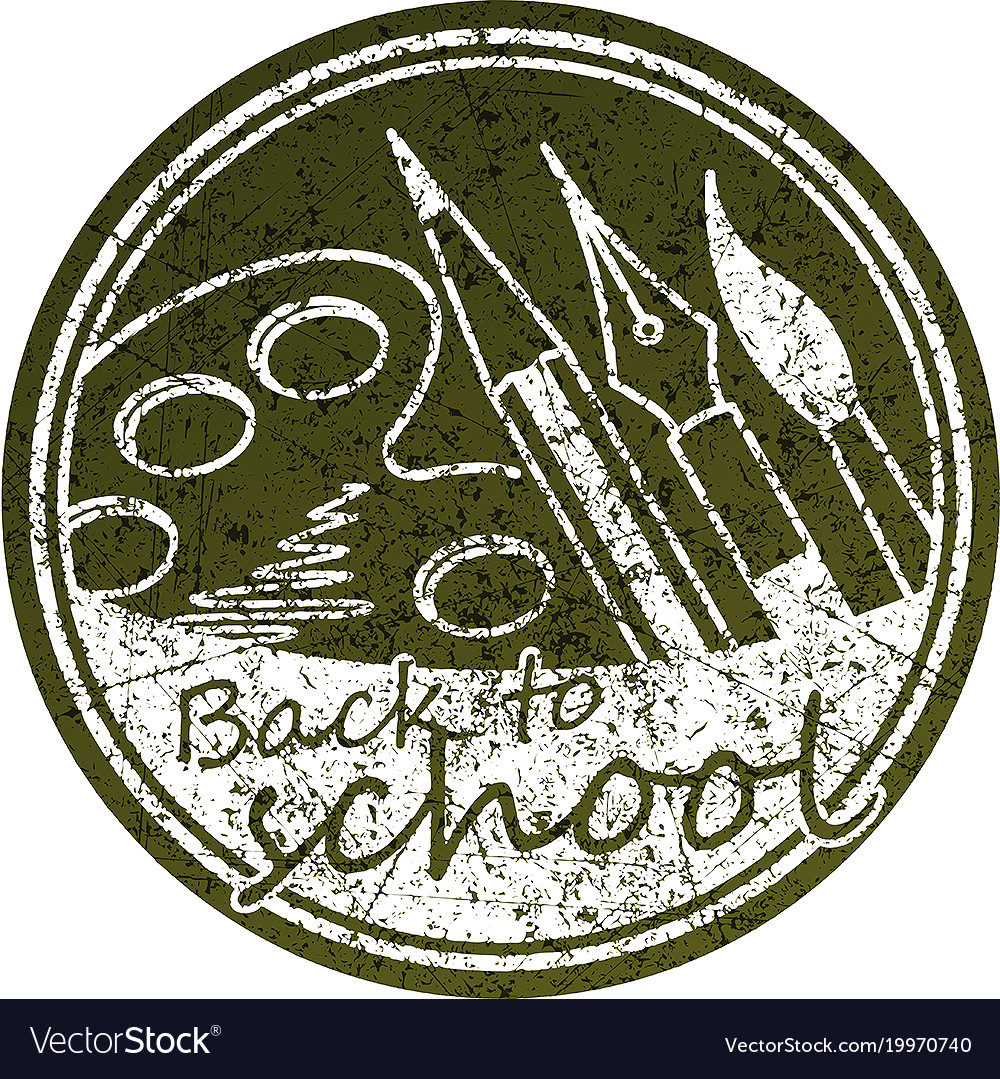 Back to school abstract round design in grunge