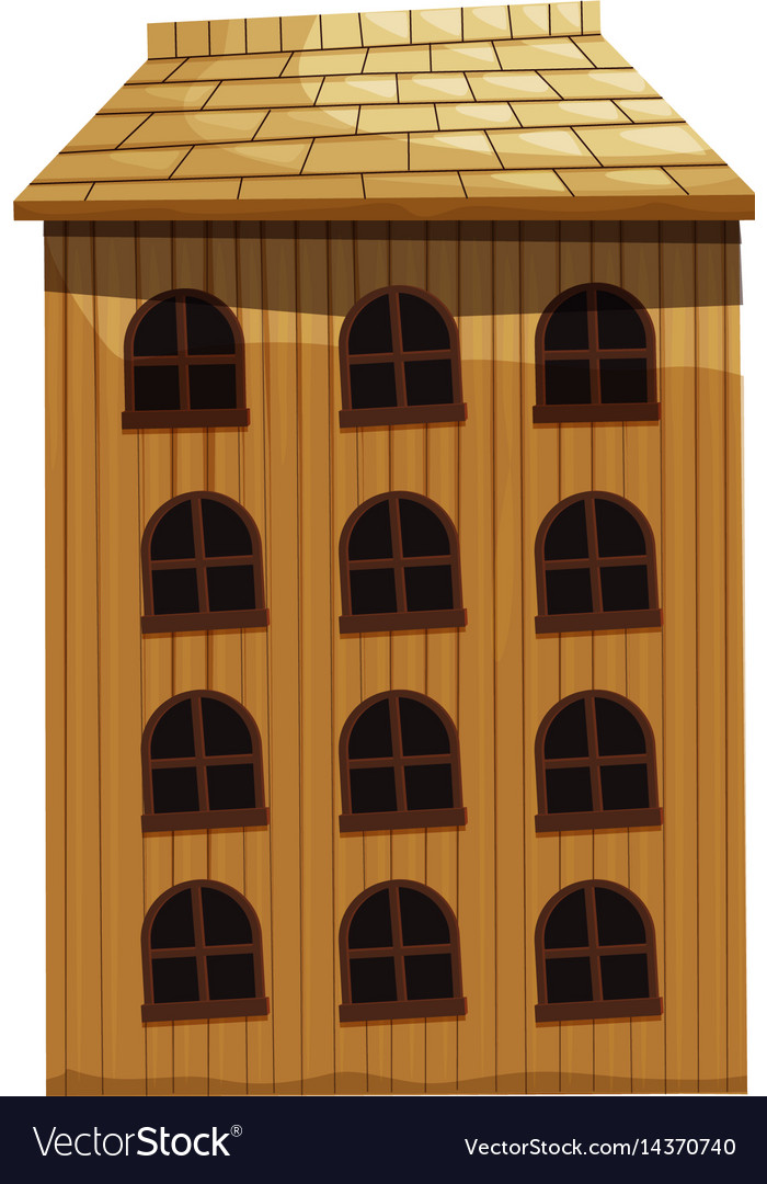 Building made of wood vector image