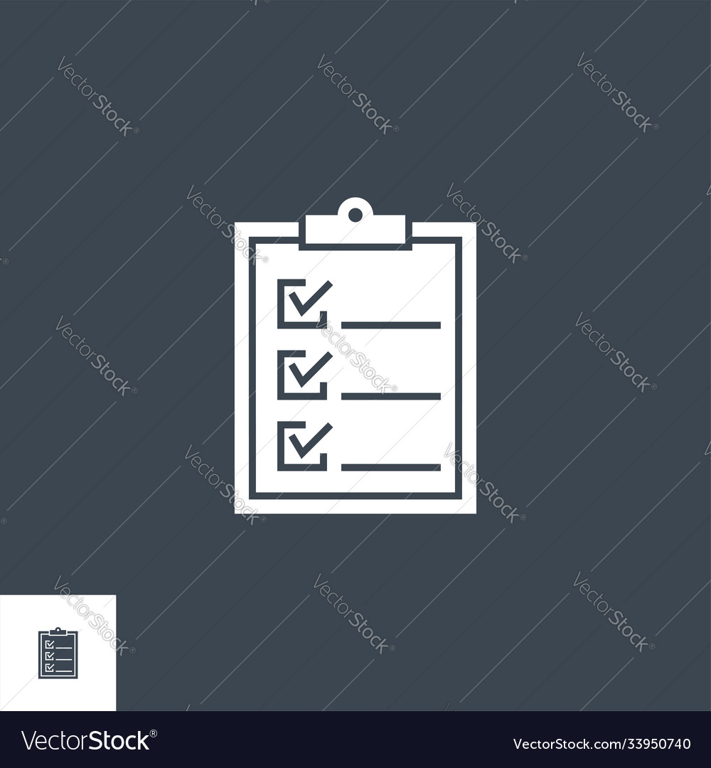 Clipboard related glyph icon