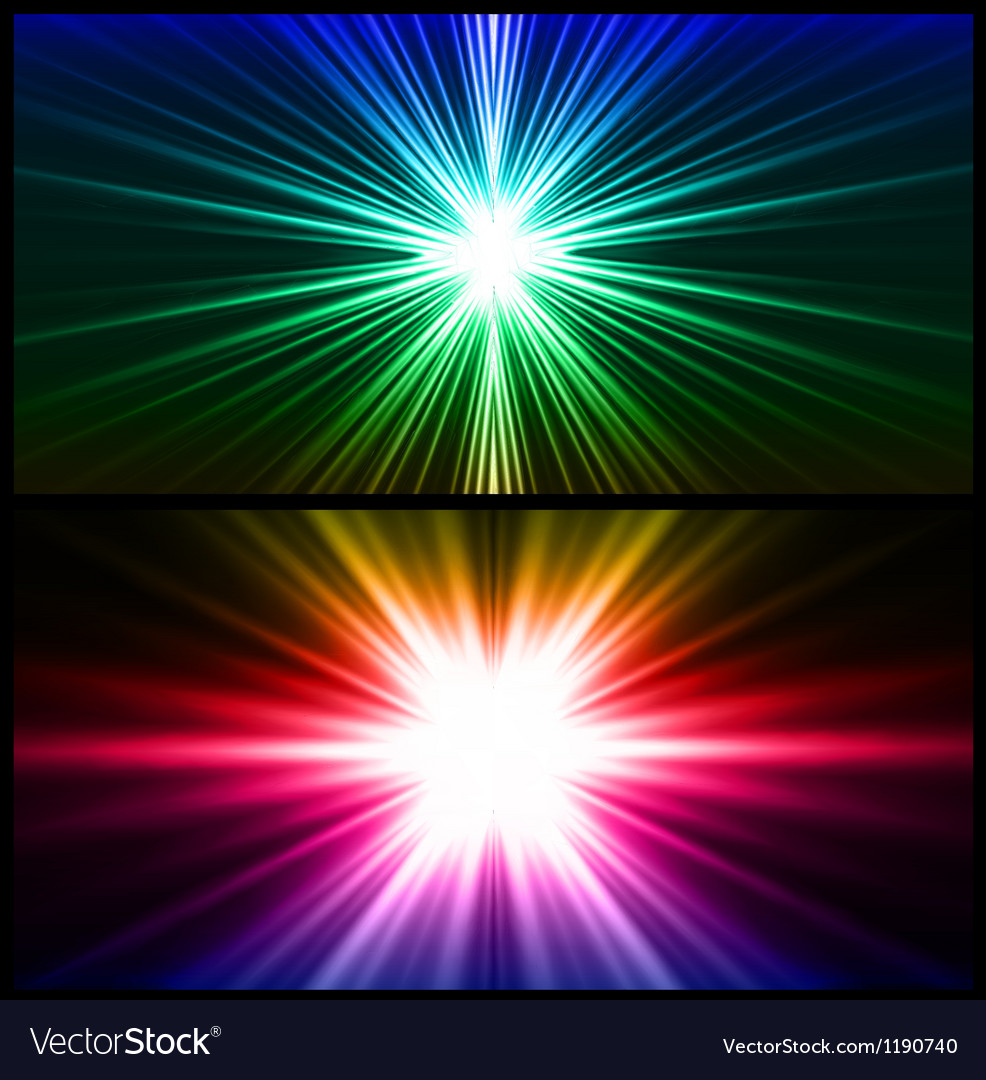 Colorful rays of light Two background