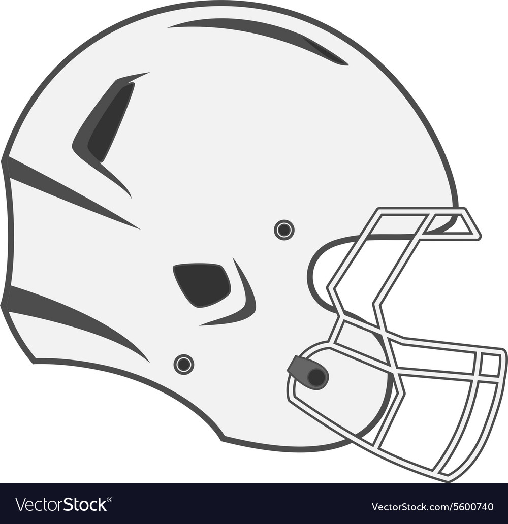 Design of white Football Helmet vector image