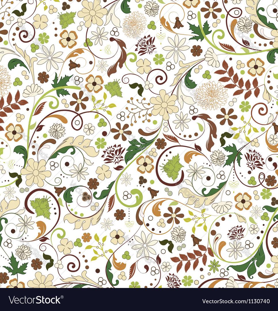Floral seamless pattern design