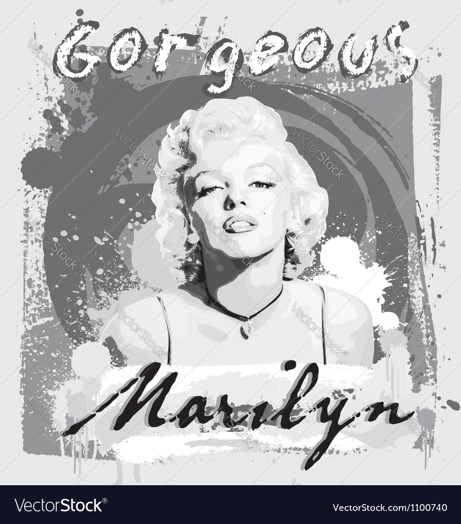 Gorgeous Marilyn vector image
