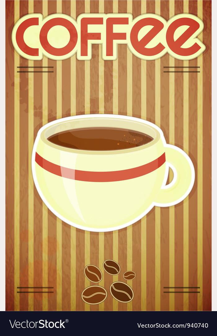 Template menu of coffee