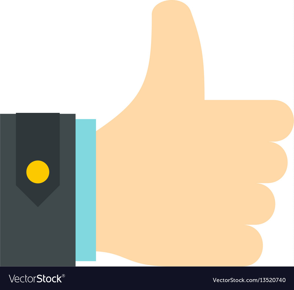 thumbs up icon flat style royalty free vector image