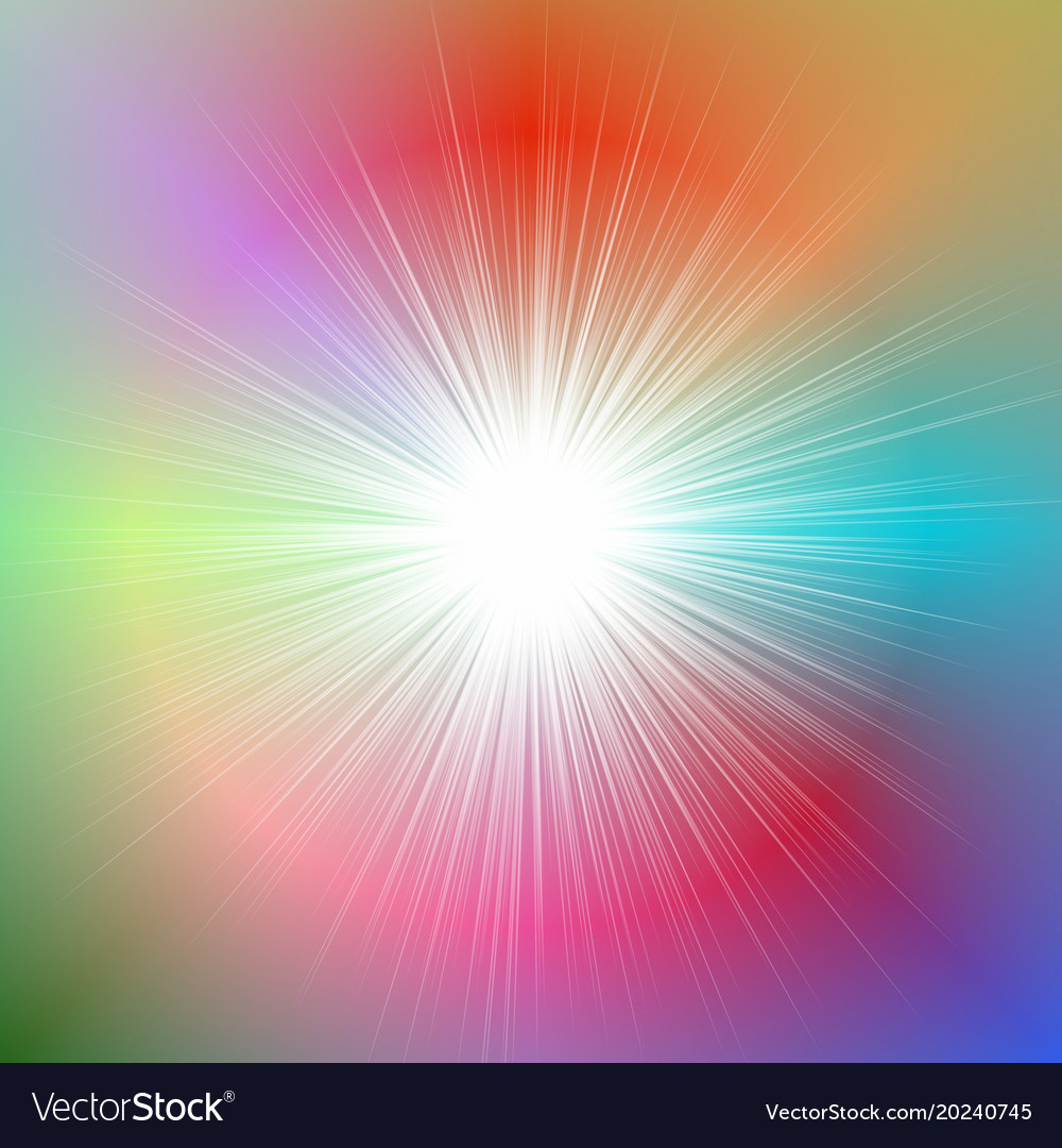 Abstract dynamic gradient star burst background