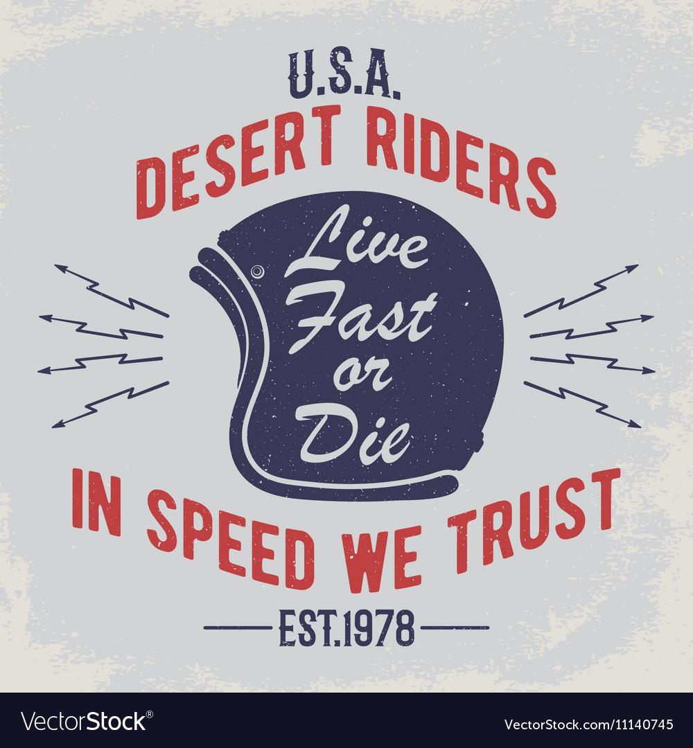 Cafe racer t-shirt print