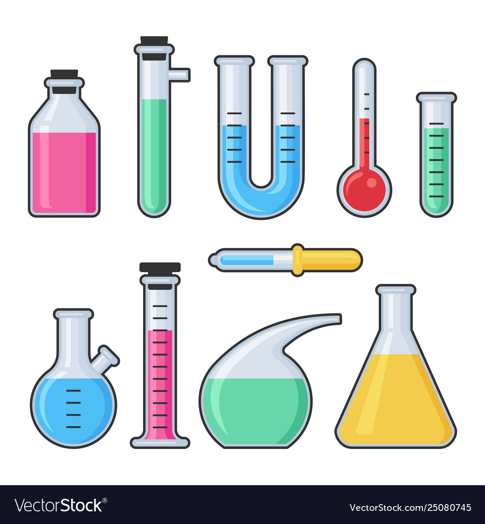 Chemistry science laboratory test glass tube and