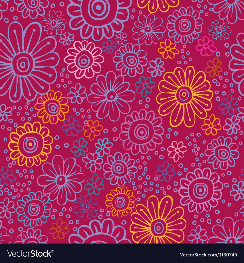 Colorful flowers seamless texture