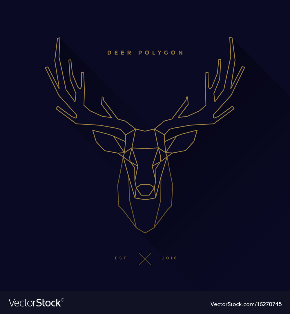 Deer Frame Invert Navy Royalty Free Vector Image