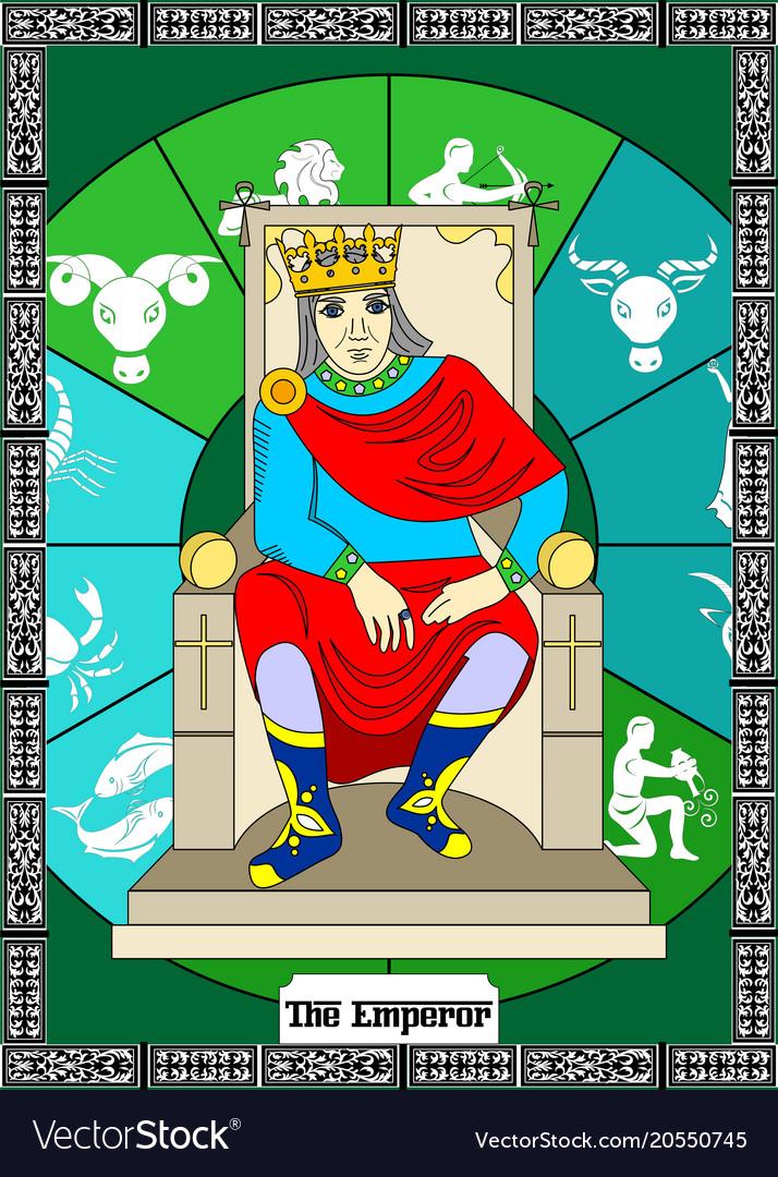 Emperor card vector image