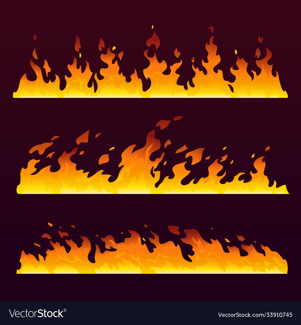 Fire flames wall burning trail fireball pattern