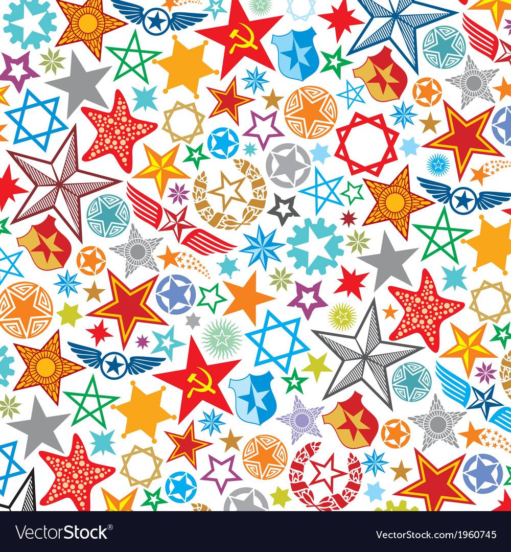 Seamless stars pattern star background