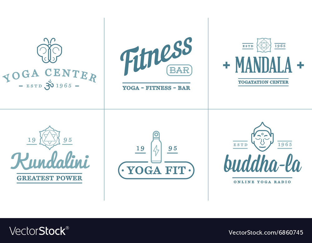 Set Of Yoga Zen Sport Elements And Fitness Healthy