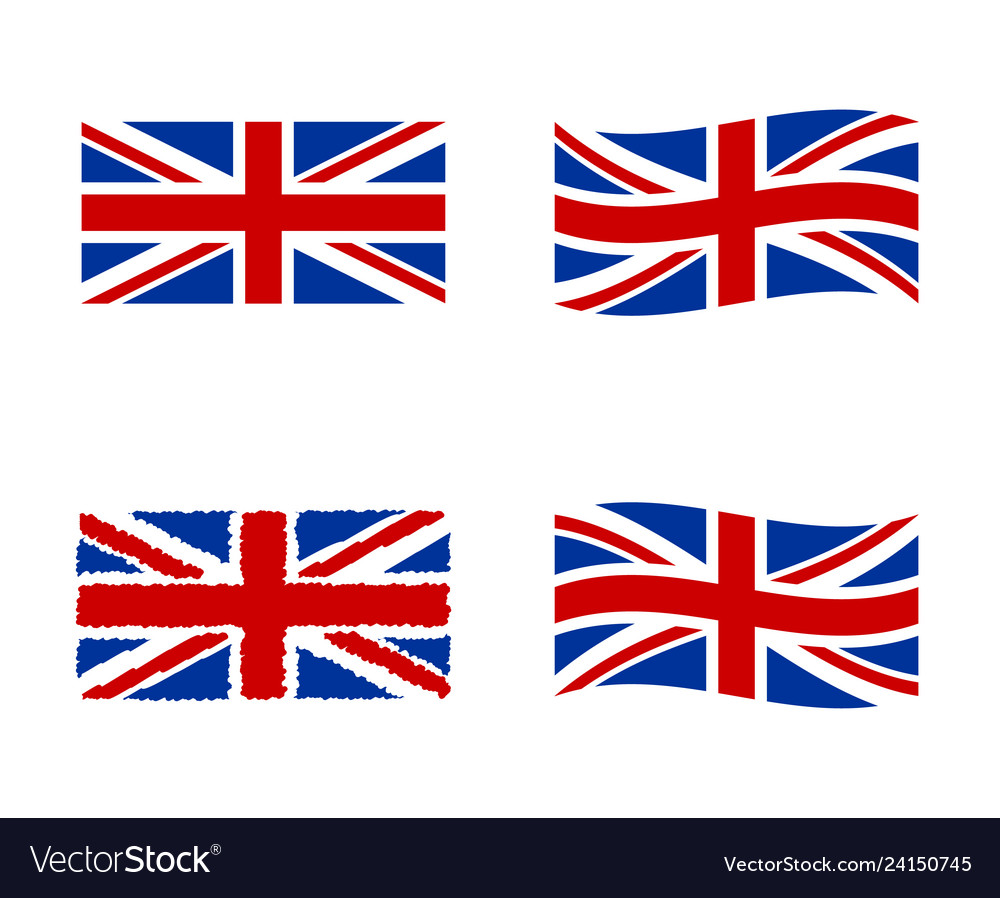 United kingdom flag national symbol of the great