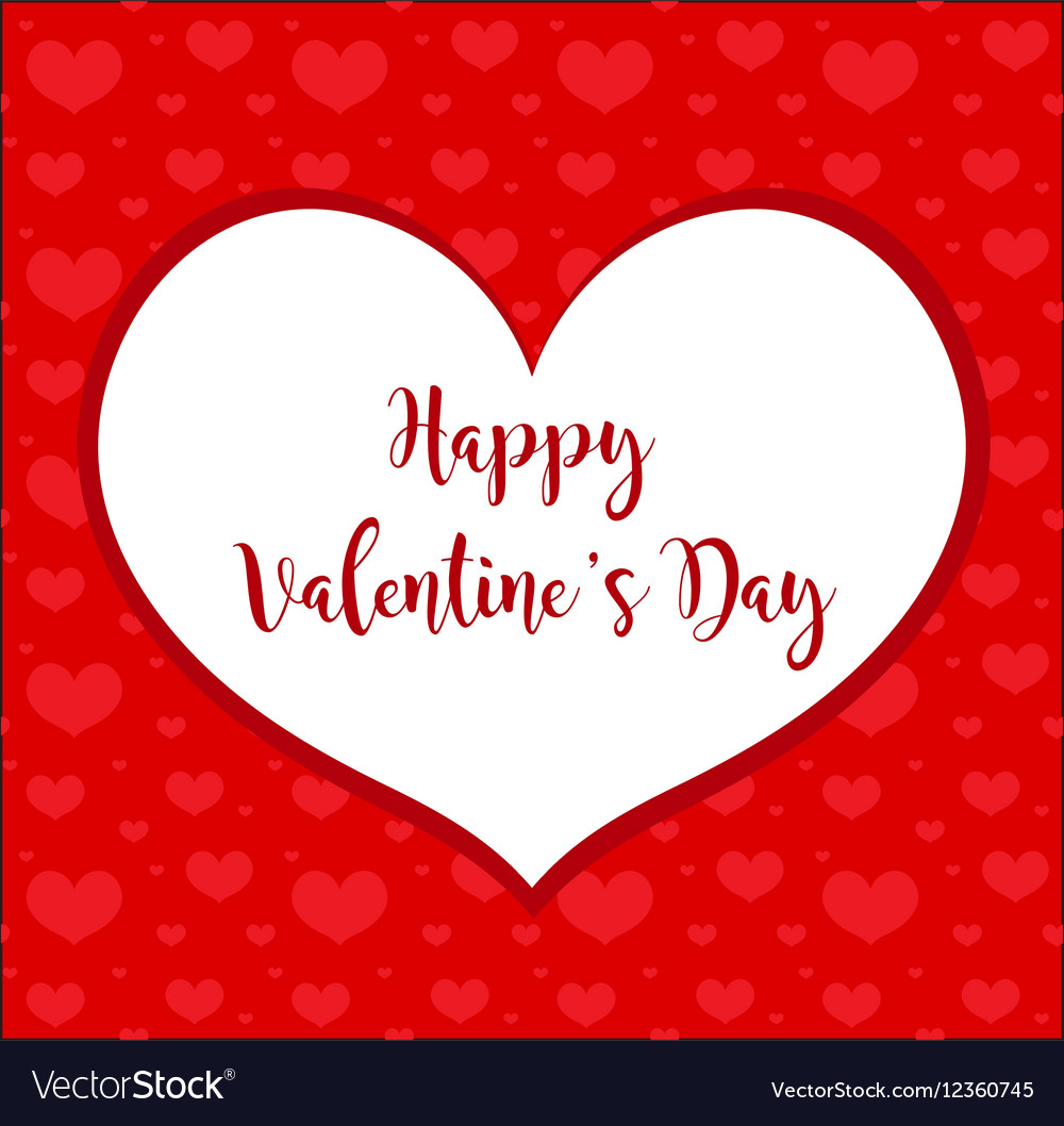 Valentines day frame heart-shaped card Royalty Free Vector