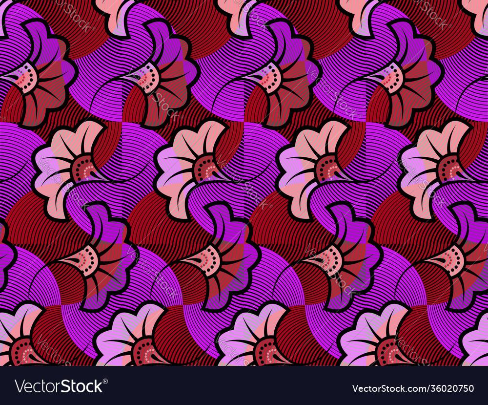 African wax print fabric ethnic wedding flowers