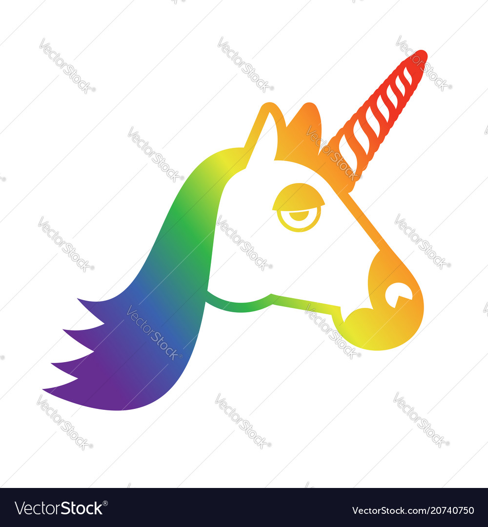 Lgbt Sign Unicorn And Rainbow Symbol Of Gays And Vector Image