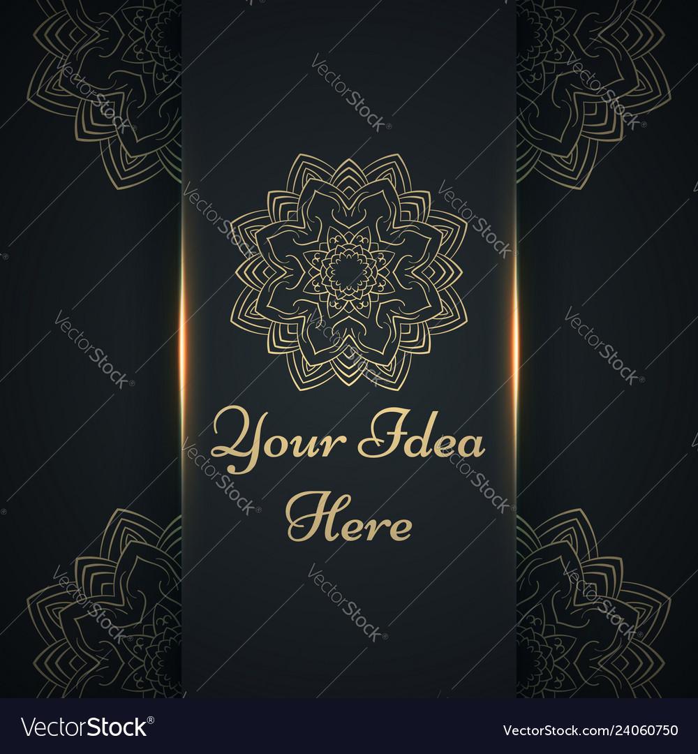 Mandala mehendi - gold ethnic template