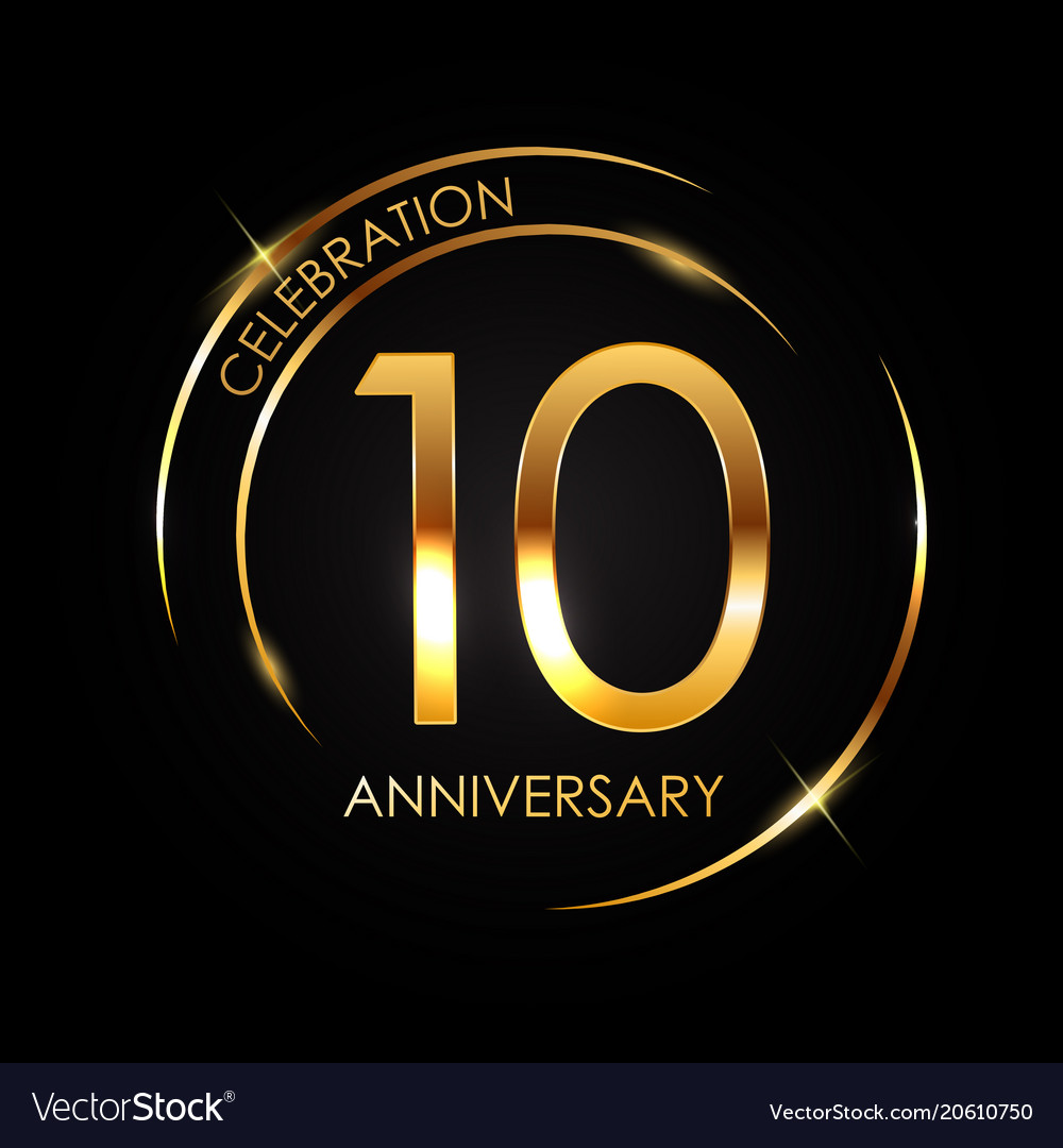 Template 10 Years Anniversary Royalty Free Vector Image