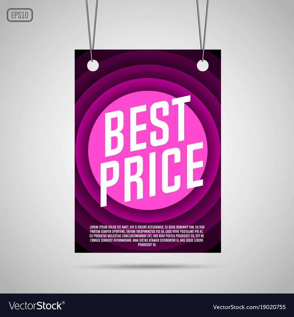 Best price background