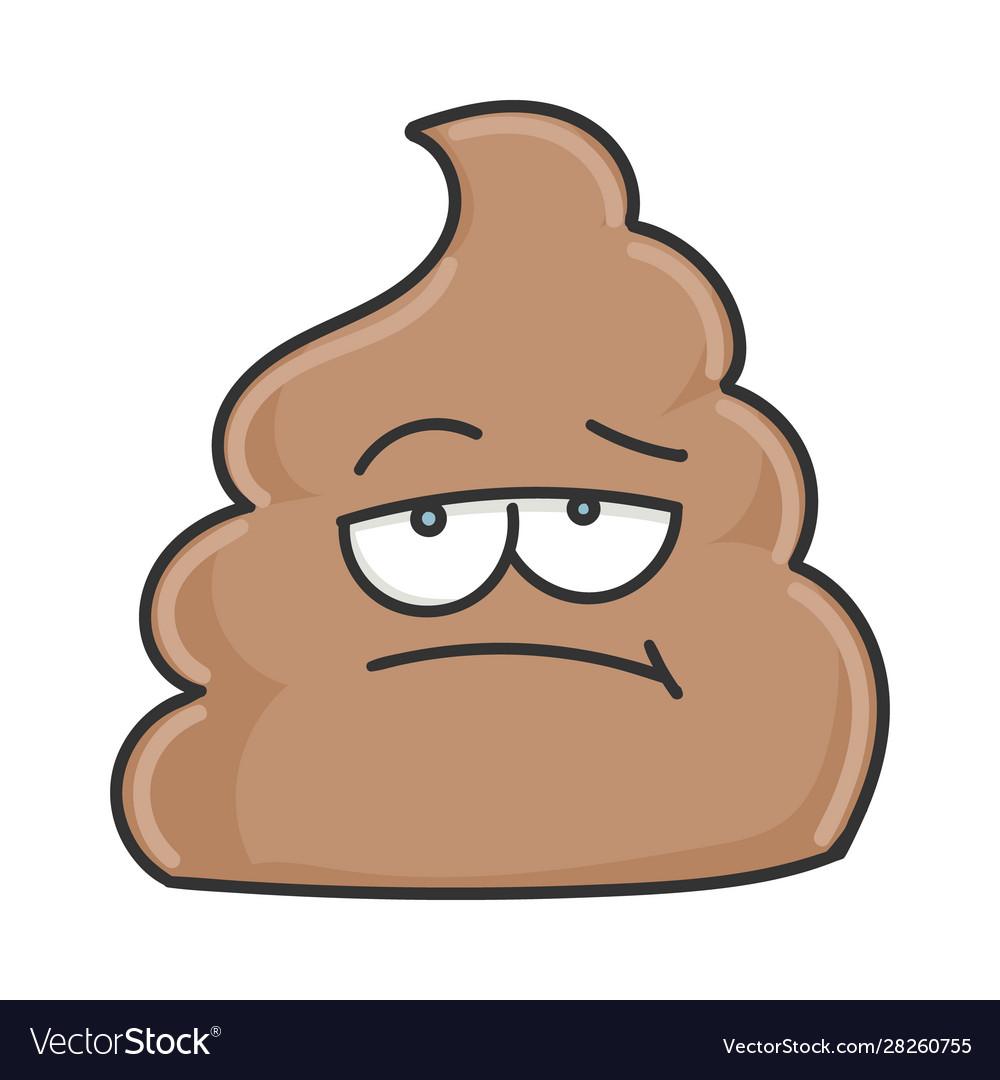 Bored Poop Cartoon Character Royalty Free Vector Image