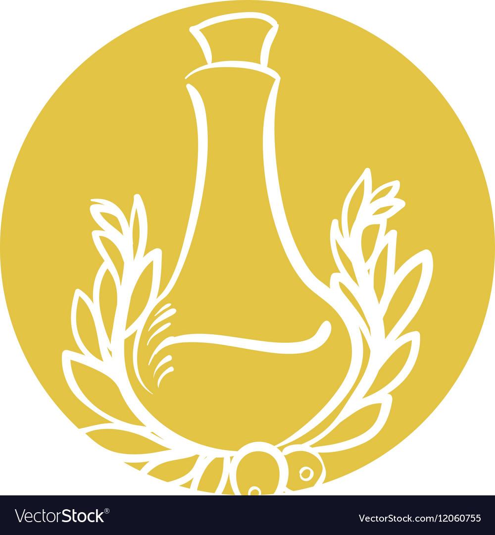Bottle olive oil emblem label