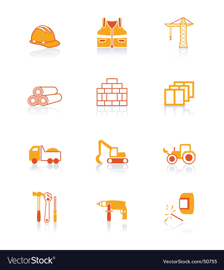 Construction icons juicy series
