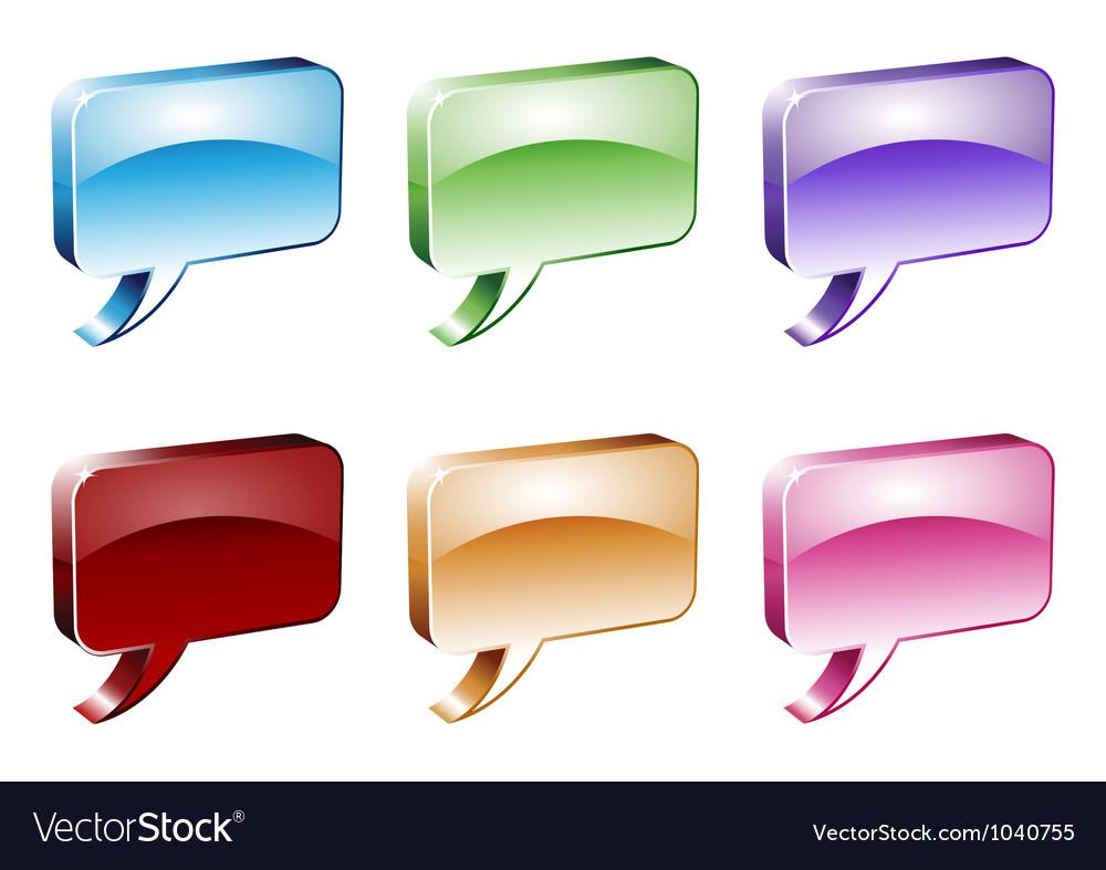 Dialog Boxes vector image