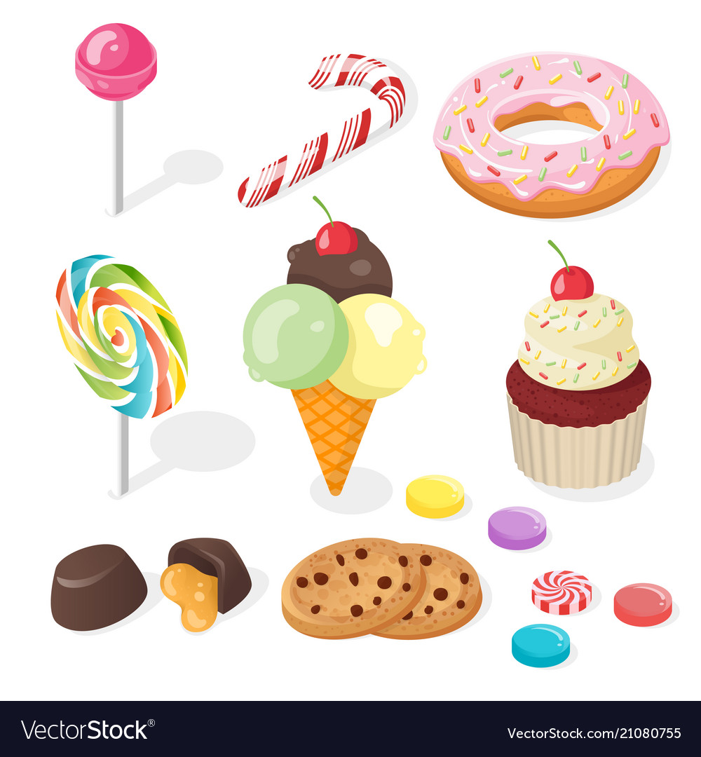 Isometric of sweets