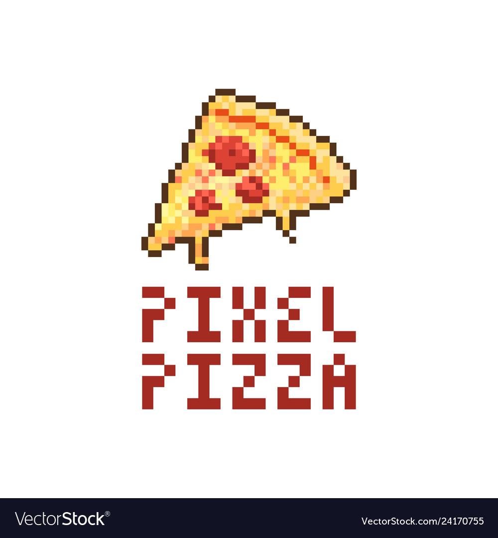 Pixel pizza logo
