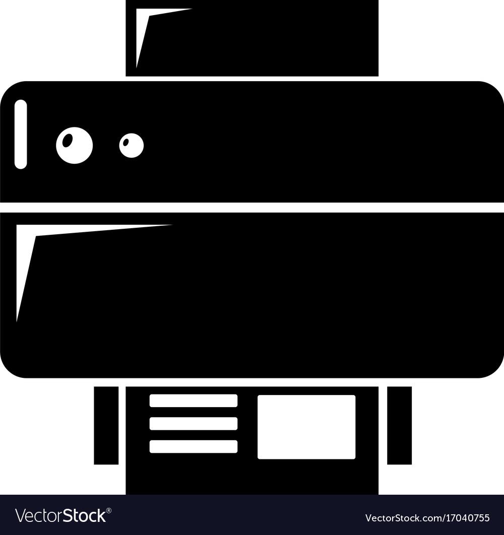 Printer icon simple black style vector image