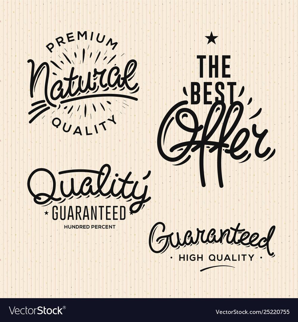 Satisfaction guaranteed vintage premium quality