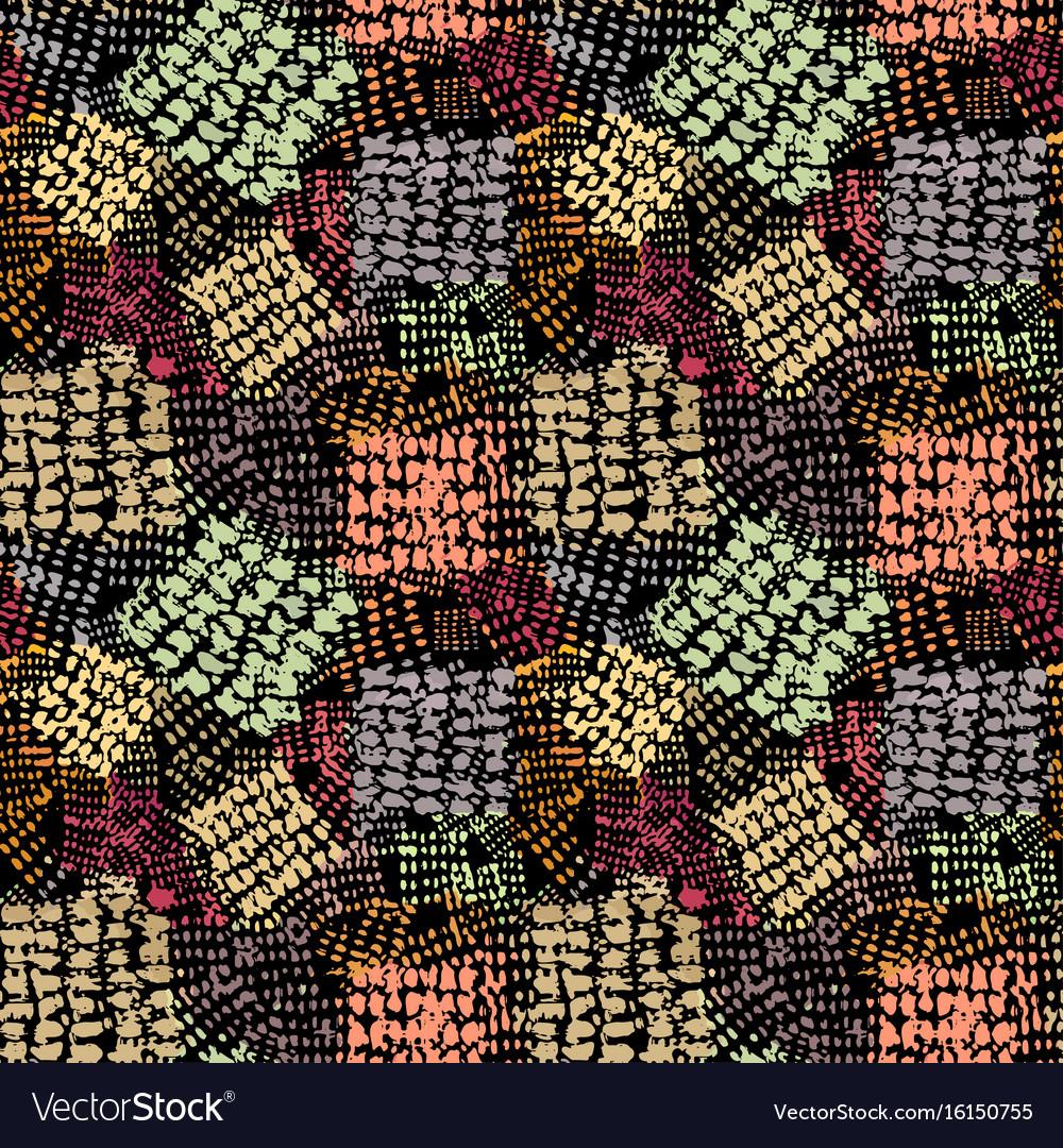 Seamless brushpen textile doodle pattern grunge vector image