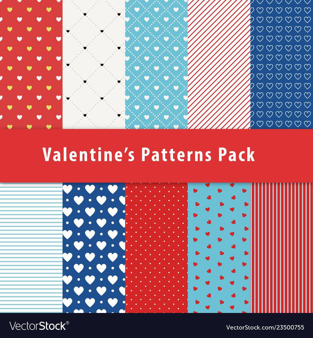 Set of geometric seamless patterns with polka dot
