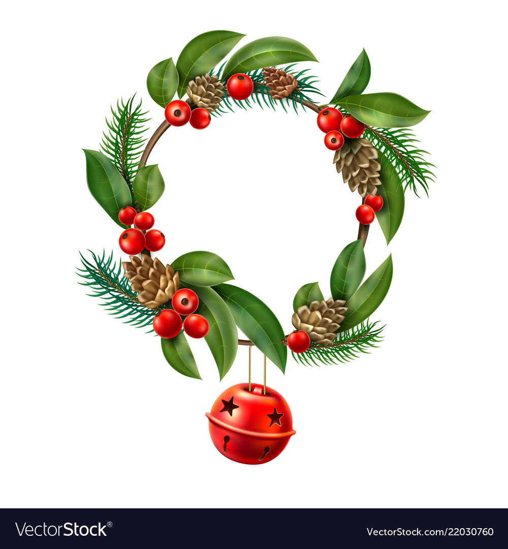 Christmas wreath red jungle bell hanging