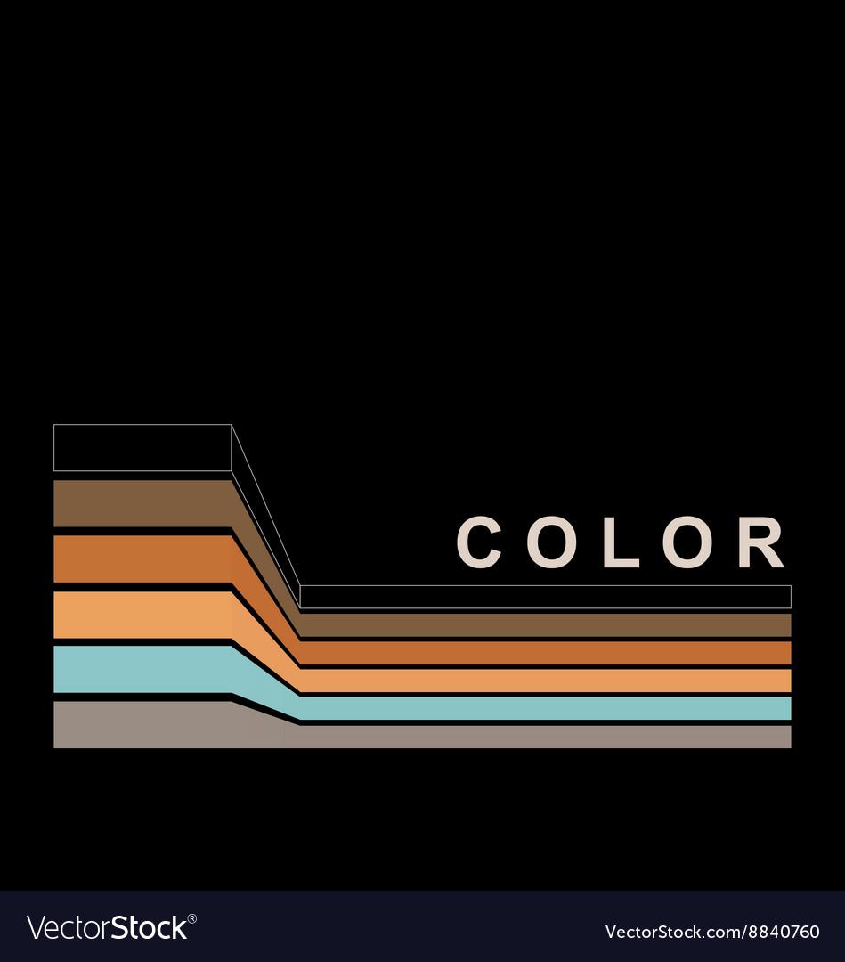 Color strokes on black page