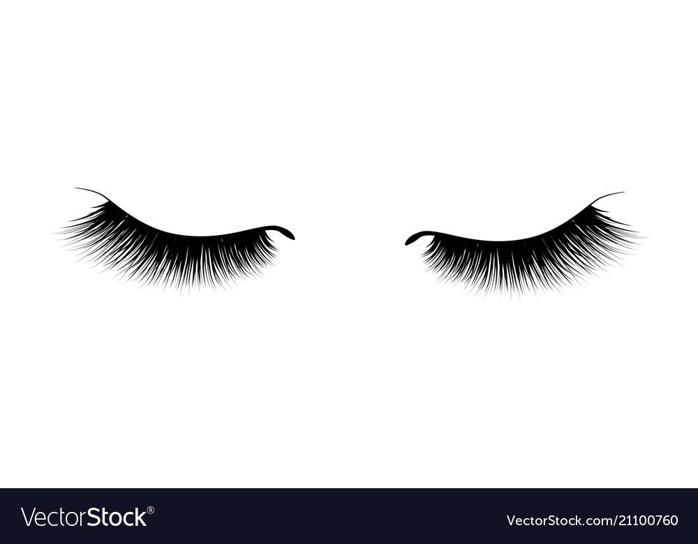 Eyelash extension a beautiful make-up thick