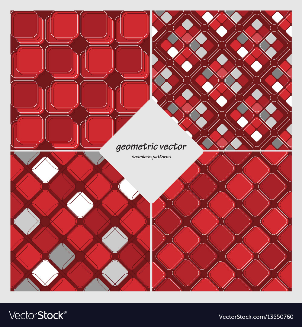 Geometric seamless set vector image
