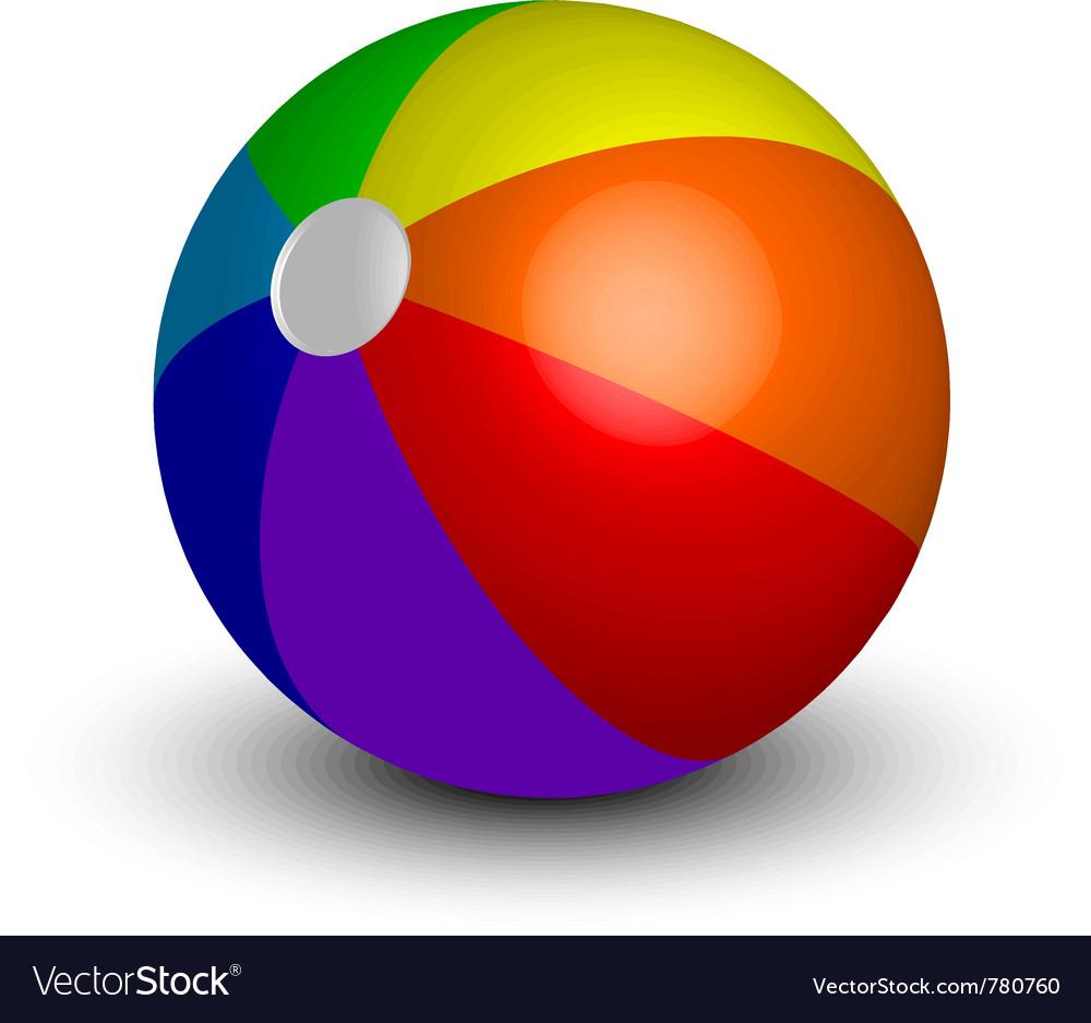 Inflatable beach ball vector image
