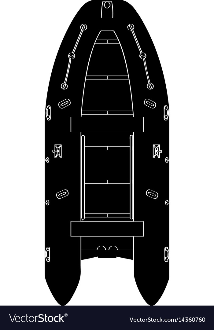 Isolated boat silhouette vector image