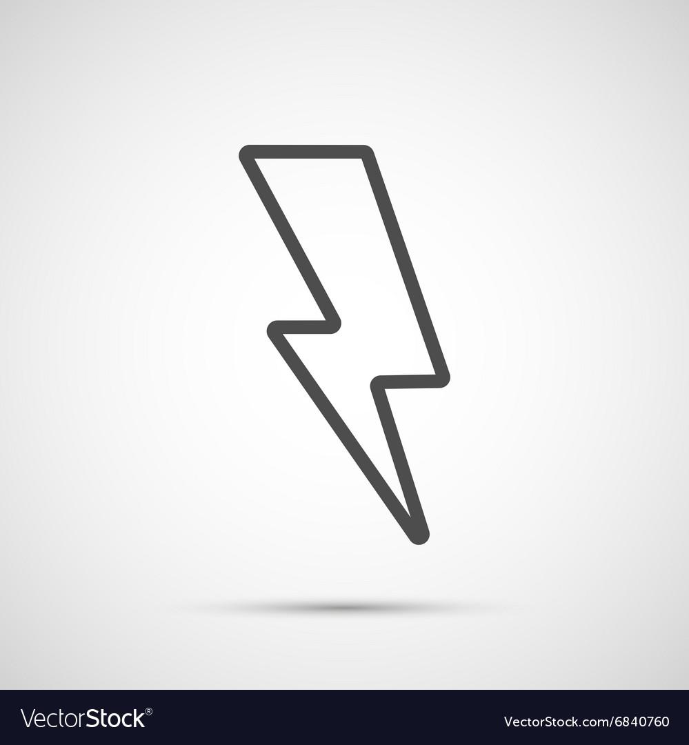 Lightning isolated on white background vector image