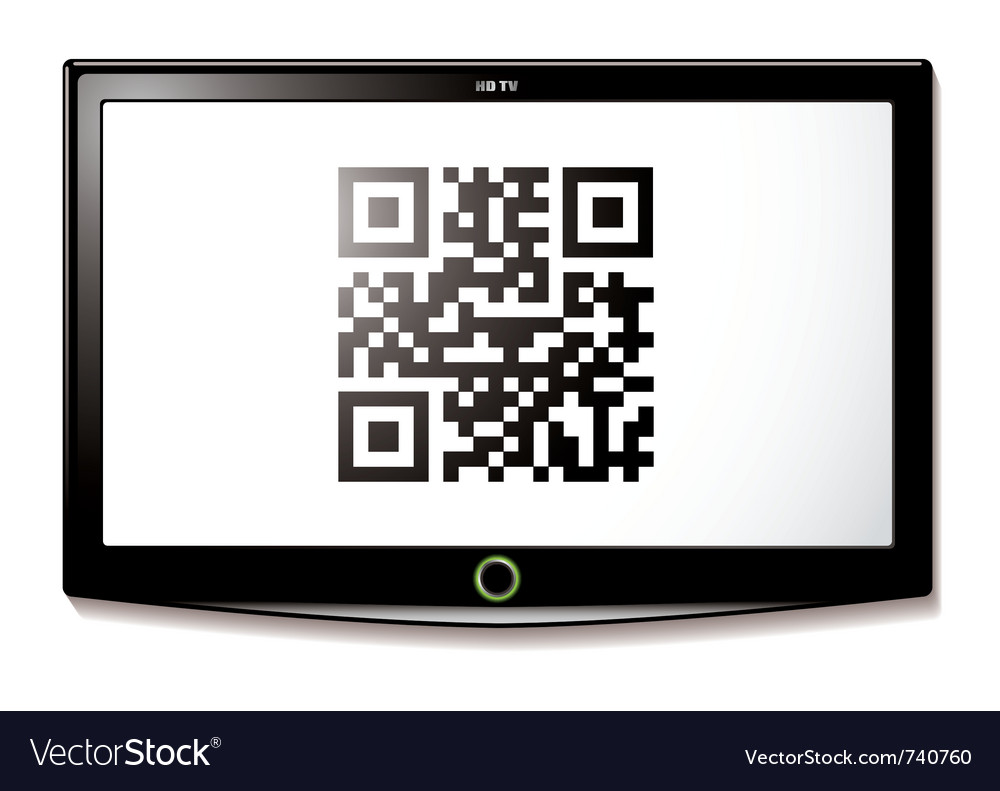 Modern lcd tv vector image
