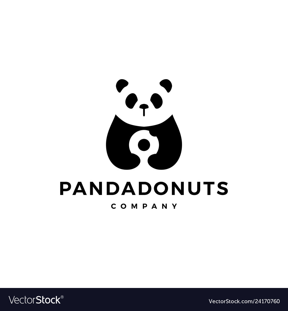 Panda donuts logo icon