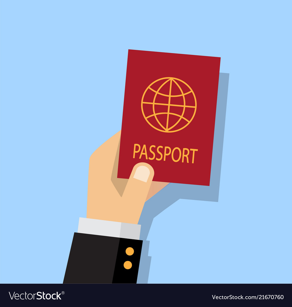 Person getting a passport