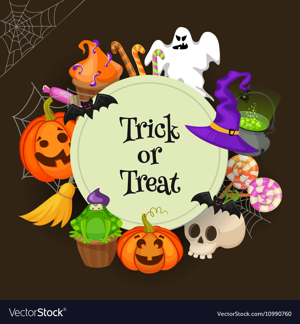 Trick or treat Halloween poster background card