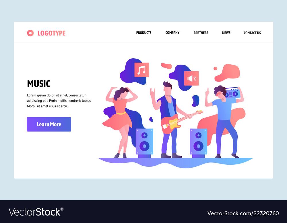 Web site linear art design template music